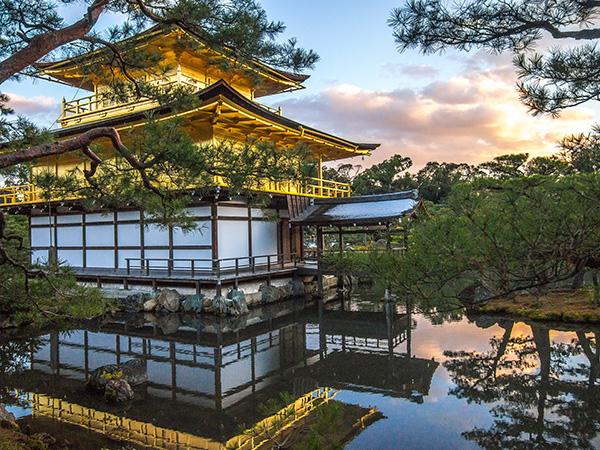 京都 冬の金閣寺
